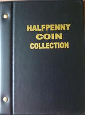 VST AUSTRALIA HALF PENNY ½d COIN ALBUM 1910 to 1964 with MINTAGES - BLACK Colour
