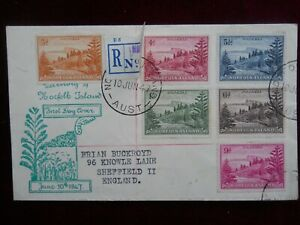 Norfolk Island, Registered First Day Cover, P/M 10 Jun 1947