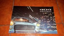 BROCHURE DEPLIANT ADVERTISEMENT PEUGEOT 404 BERLINA AUTOMATICA ITALIANO 1972