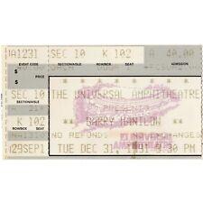BARRY MANILOW Concert Ticket Stub LOS ANGELES CALIFORNIA 12/31/91 UNIVERSAL NYE
