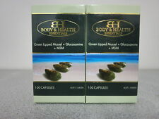 Glucosamine + MSM + Green Lipped Mussel 100 Capsules (2 Pack) - Joint Health