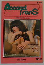 Revue Accord trans nr 6 Travesti Transvestite