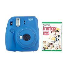 Fujifilm Instax Mini 9 Instantáneo Cámara with 10 DISPAROS - Azul Cobalto
