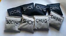Drinking Cornhole Game Bag Toss Custom Embroidered Regulation Cornhole Bags
