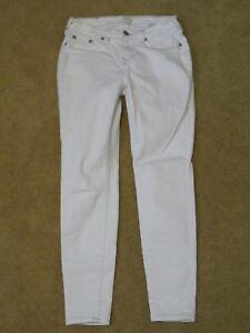 Women's True Religion Denim Curvy Skinny Fit White & Gray Jeans Pants Size 29