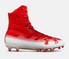 Under Armour Highlight MC Football Cleats  Red/White 3000177 MSRP$130 Size 9.5