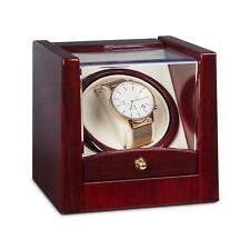 Scatola Porta Orologi Watch Winder Carica Cofanetto Espositore LED Palissandro