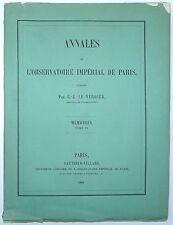 URBAN LE VERRIER Annales de l'Observatoire Imperial de Paris ASTRONOMY IX 1868