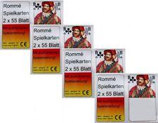 8x55 RAMI Cartes Jeu de rommekarten canasta bridge skat Poker