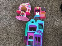 LITTLEST PET SHOP MY LITTLE PONY 3 PLAY HOUSES~GREAT DEAL! LOOK