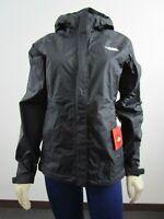 Womens The North Face Venture Waterproof Dryvent Hooded Rain Jacket Black White