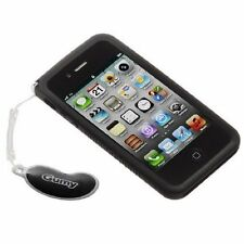 NEW Black JVC Gumy Case Cover for Apple iphone 4 4S Soft Grip Silicone Rubber