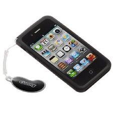 nuevo negro JVC Goma carcasa para Apple iphone 4 4S Agarre Suave Caucho Silicona
