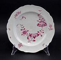 99840183 Porzellan Teller Meissen Marcolini Schwerter 1774-1814 indisch Purpur