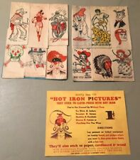 1940's Iron On Transfer Lot 144 Transfers 12 Each Of 12 Different Famous Designs