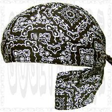 Doo Black Bandana New Paisley Head Wrap Doo Rag Du Skull Cap Do Hat Mens-Womens