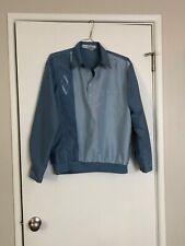 vintage mens pullover dress shirt long sleeve embroidered