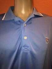 FootJoy Fj Blue Golf Polo Shirt Polyester Spandex Men's Medium M