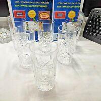 Lot of 6  Waterford Crystal Lismore Platinum Highball Tumbler Glass 5 5/8''