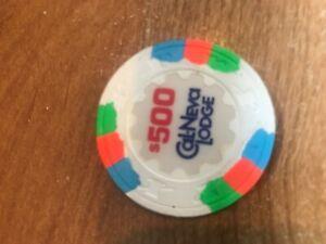 Cal Neva Lodge $500.00 Casino Chip Lake Tahoe Nevada