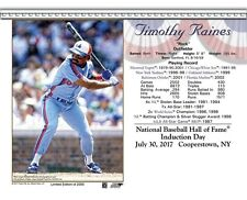 TIM RAINES MONTREAL EXPOS 8X10 2017 HALL OF FAME INDUCTION DAY CARD