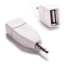 3.5mm Jack Male AUX Audio Plug to USB 2.0 Female Converter Adapter Plug White