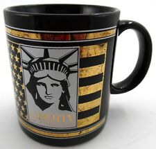 Statue of Liberty Centennial 1886- 1986 Coffee Mug Keep The Torch Lit Black Gold