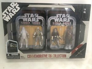 Star Wars COMMEMORATIVE TIN COLLECTION Episode V 5 Of 6 FOUR ACTION FIGURES NEW