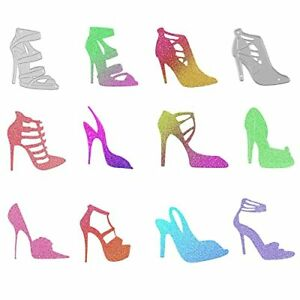 10 Pieces Lady High Heel Women Shoe Metal Cutting Die Stencil Metal Die Cutter