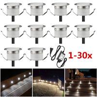 1-30er Set 0,6W Φ31mm LED Bodeneinbaustrahler Einbauleuchte Terrasse Außenlampe