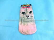 US SELLER- 3D cats girl women crazy socks low cut cheap womens socks