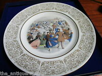 """""""Central Park Winter"""" collector plate from Currier & Ives Lithograph [*6]"""