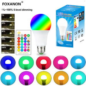 5W/10W/15W LED RGBW RGB Globe Lamp Colour Changing Light Bulb E27 B22 +IR Remote