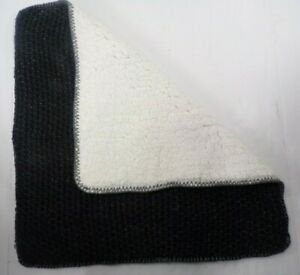 """Pottery Barn Thermal Sherpa Back Knit Pillow Cover 24"""" Heathered Charcoal #9519C"""
