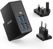 Anker PowerPort 4 Lite USB Plug Charger 5.4A/27W 4-Port USB Charger UK/EU