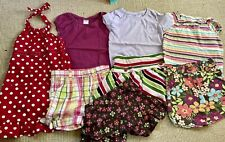 ☀️ GYMBOREE  8 pc Lot girls sz 4 (fits 4-6). 3 Tops, 2 Skirts, 2 Shorts, 1 dress