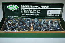 "SK Tools 4607 7 Piece 3/8"" Drive 6 Point Flex Fractional Socket Set  Made in USA"