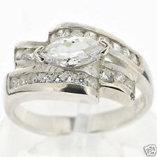 7 g Stamped 925 Sterling Silver White CZ Ring Size 9.75 BELDIAMO