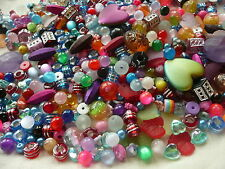 200g Mixed Acrylic & Plastic Beads for Jewellery Making 500 20 Types 6mm- 24mm
