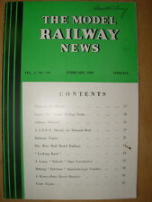 VINTAGE MODEL RAILWAY NEWS CLOCKWORK - STEAM - ELECTRIC No 194 FEBRUARY 1941