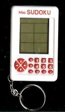 MINI SUDOKU ELECTRONIC POCKET SIZE TRAVEL LCD PORTABLE GAME WHITE BABY KEYCHAIN