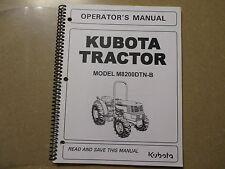 Kubota M8200 DTN -B tractor owners & maintenance manual