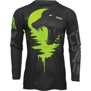 NEW Thor Youth Pulse Counting Sheep Jersey - Charcoal/Acid from Moto Heaven