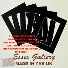 CLEARANCE - JOBLOT Packs of 50 Picture Frame Photo Mounts - BLACK (Cream Core)