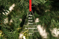 Personalised Christmas Tree Decorations Tree Shape - Family Names Children..