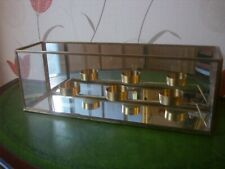 Triple tealight holder mirrored