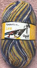 Opal Moments of Life Wool/Nylon Sock Yarn #9080 blue/yellow