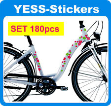 Stickers Flowers Flower 180pcs. in any two colors Self Adhesive for bike helmet