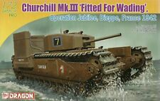 Dragon 1/72 (20mm) Churchill Mk III With Deep Wading Kit  Dieppe 1942