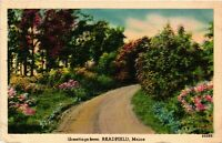 Vintage Postcard  - Greetings from Readfield Maine ME Posted 1943 #1196